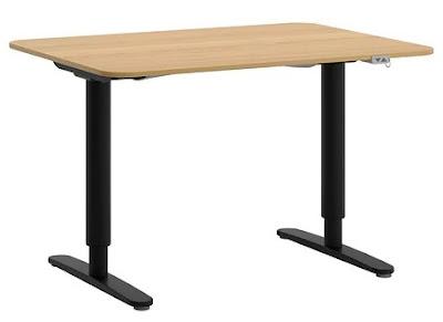Bekant sit/stand desk 120x80cm