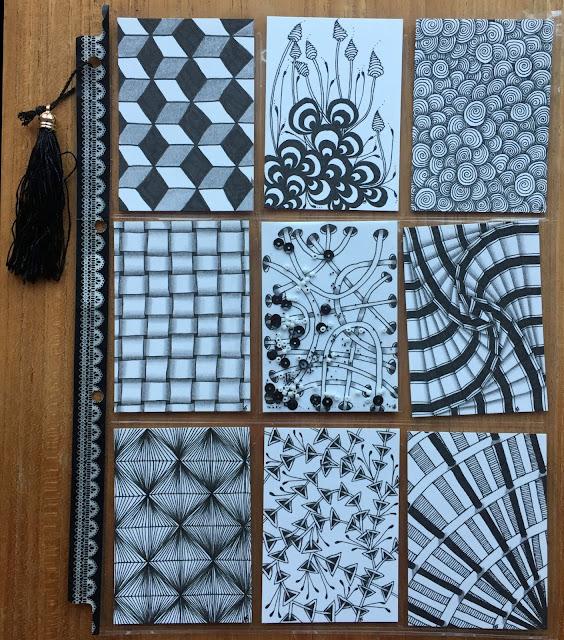Black and White Zentangle Pocket Letter