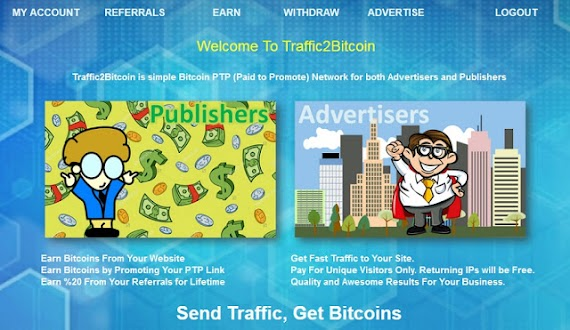 Cari dollar/bitcoin di traffic2bitcoin