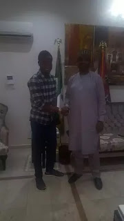 Chelsea Senior man and Super Eagles' coach hanging out with Senate President; Bukola Saraki.