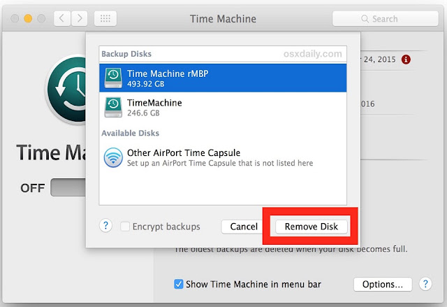 How to Remove a Disk from Time Machine on Mac