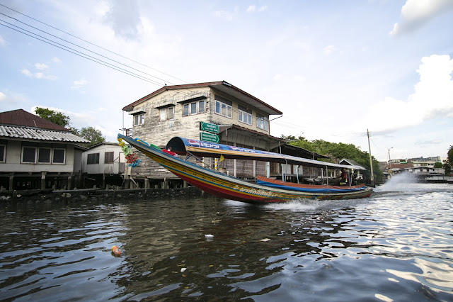 Long tail boat-Crociera sui canali del quartiere di Thonburi
