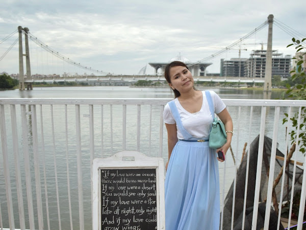 Outfit Diary : Baby blue skirt + White shirt