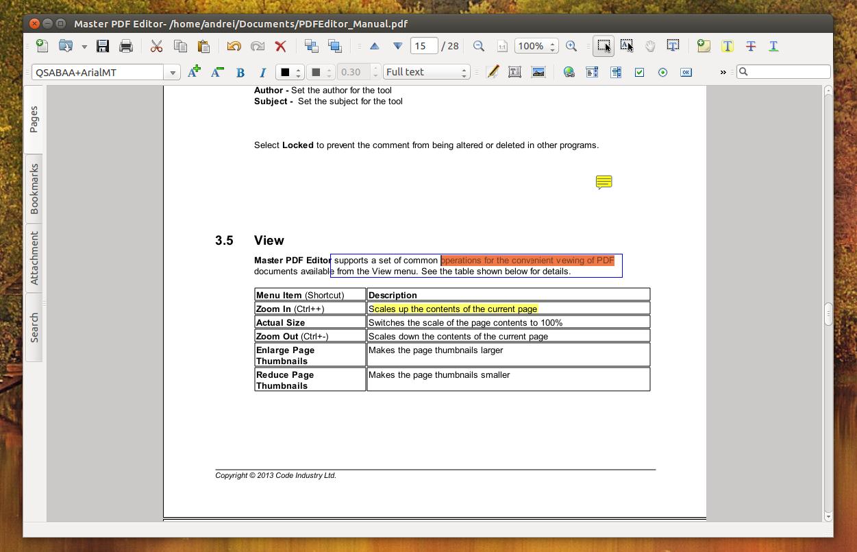 master pdf editor ubuntu [ 1251 x 805 Pixel ]