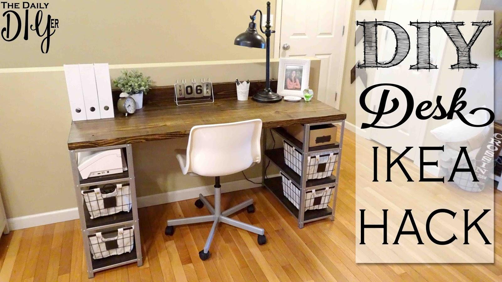diy desk cost. DIY Desk Build | IKEA Hyllis Hack Diy Cost