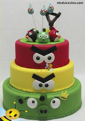 Tortas temáticas Angry Birds. Venta de tortas en Lima, Surco, San Miguel, Lince