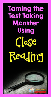 If you're looking for ways to help your students with close reading, check out this post explaining how to use close reading as a test taking strategy and more