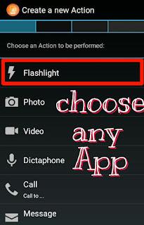 select any app