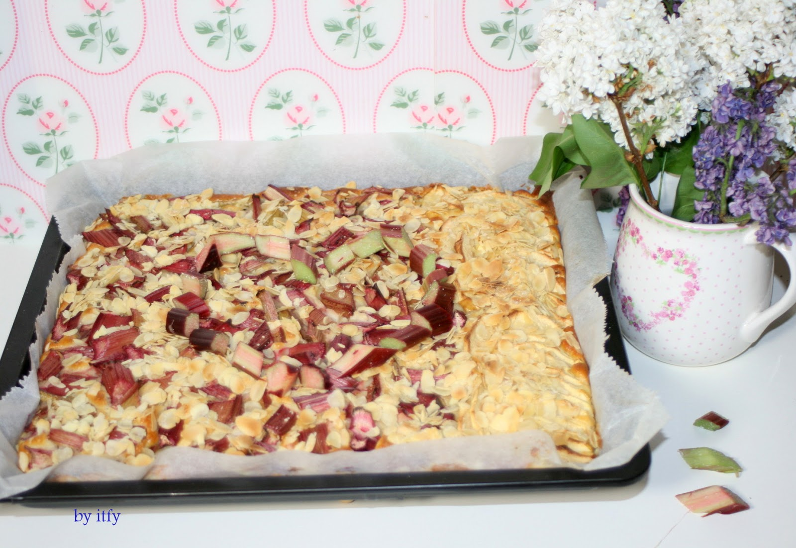 I Test For You Sonntagskuchen Rhabarber Blechkuchen Mit Quark