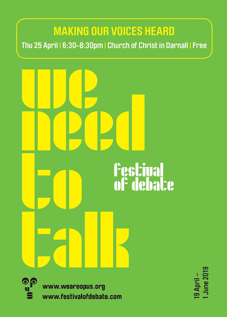 We Need to Talk : Festival of Debate Poster