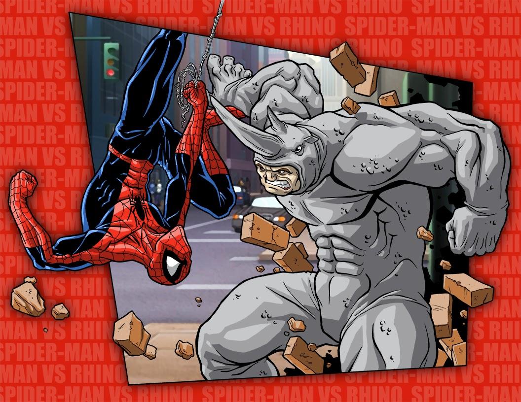 black spiderman vs rhino - photo #22