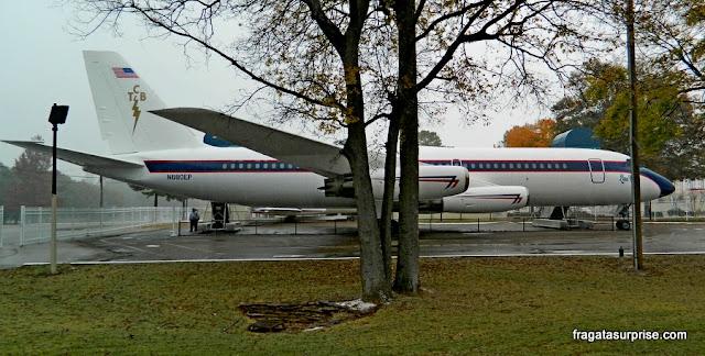O Lisa Marie,um dos aviões de Elvis expostos em Graceland