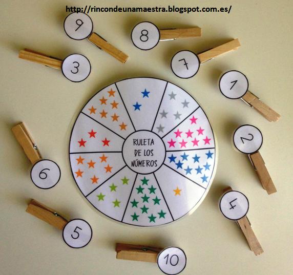 Rinc n de una maestra ruleta de los n meros for Actividades para jardin de infantes para imprimir