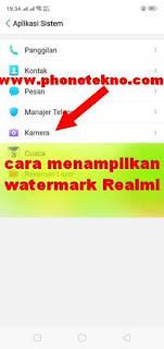 Cara menampilkan watermark / tanda air Realme C1