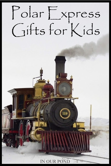Polar Express Gifts for Kids from In Our Pond // #giftguide #toys #kids #christmas #trains #polarexpress