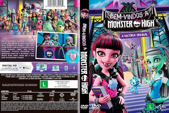 Capa DVD Bem Vindos A Monster High