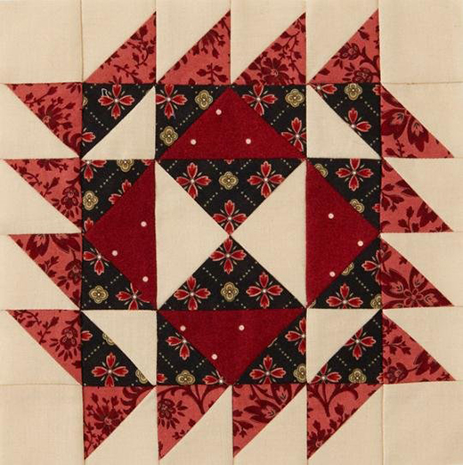 Mystery Quilt Block 1 Free Pattern designed by Monique Dillard of Open Gate Quilts