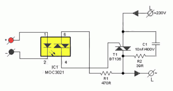 DIY Solid State Relay Electronic Circuit