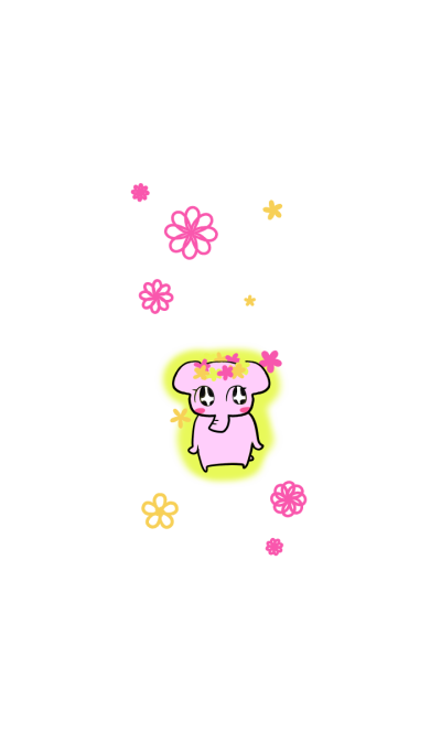 The mascot of pink elephant