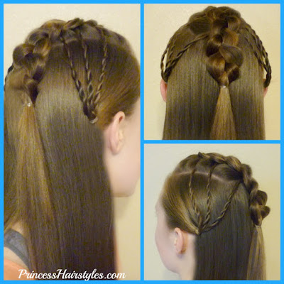 Faux Hawk Fan Half Up Hairstyle Tutorial