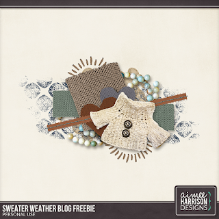 Creative Team, Annemarie, for GingerScraps -   Sweater Weather Collection by Aimee Harrison and Coordinating Freebie