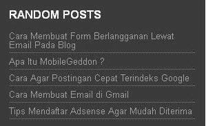 cara membuat navigasi random posts di blogger