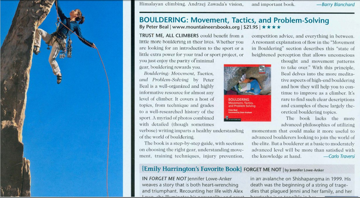 bouldering ebook review