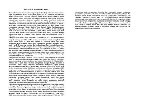 essay kontribusi bagi indonesia lpdp