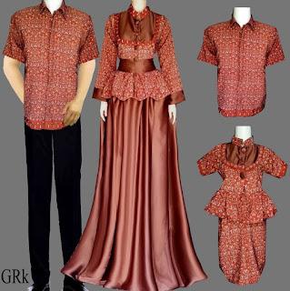 model baju batik couple gamis modis