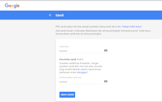 Cara mengganti password gmail (email)