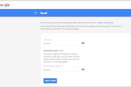 Cara mengganti password gmail (email)