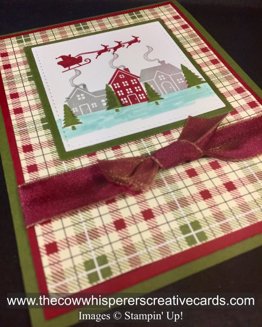 Card, Hearts Come Home, Festive Farmhouse, Reversible Ribbon, Christmas