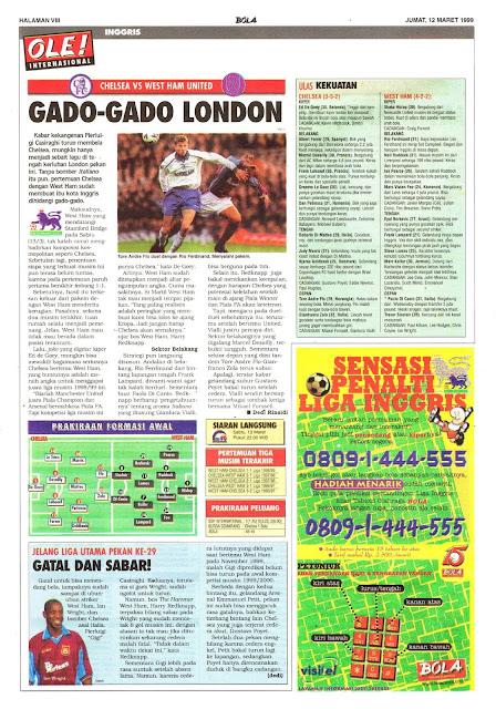 CHELSEA VS WEST HAM UNITED GADO-GADO LONDON