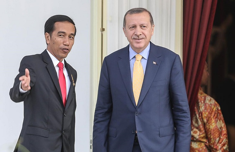 Jokowi bersama Erdogan