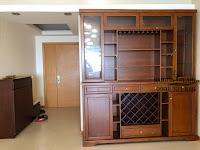 Cho thuê Ruby 1 Saigon Pearl 150m2 tầng 21 | tủ gỗ cao cấp tại phòng khách