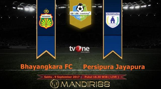 akan menyuguhkan big match yang mempertemukan antara Bhayangkara FC kontra Persipura Jaya Berita Terhangat Prediksi Bola : Bhayangkara FC Vs Persipura Jayapura , Sabtu 09 September 2017 Pukul 18.30 WIB @ TVONE