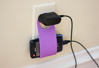 Cardboard Cell Phone Charger Holder
