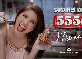 555 Sardines (her first solo TV commercial)