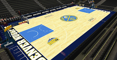 NBA 2K14 Nuggets HD Court Mod