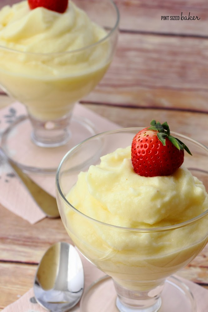 All natural and homemade, this Pineapple Sherbet tastes like a Dole Whip and can be made dairy free and without any added sugar, just sweet pineapple.