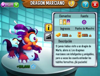 imagen del dragon marciano