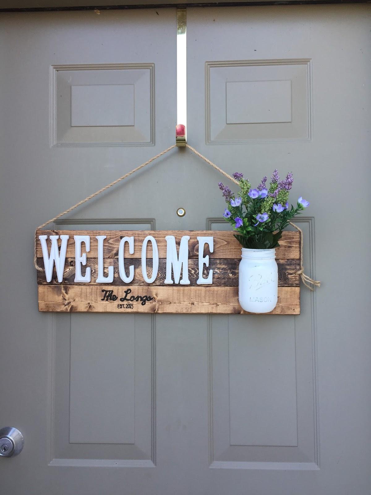 Drew Danielle Design Custom Welcome Sign