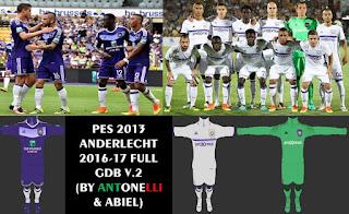 Anderlecht Kits 2016-2017 Pes 2013
