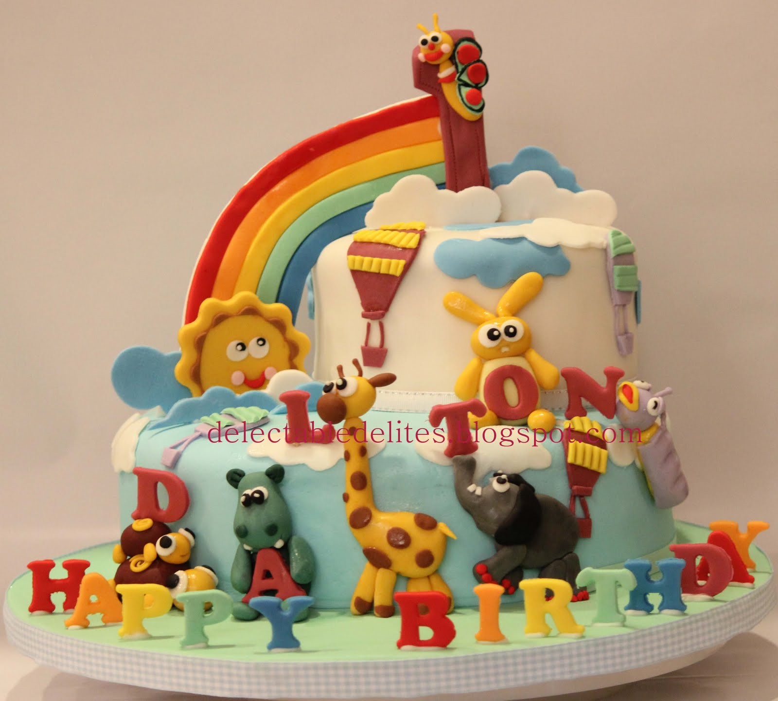 Delectable Delites Baby TV theme cake for Daltons 1st birthday