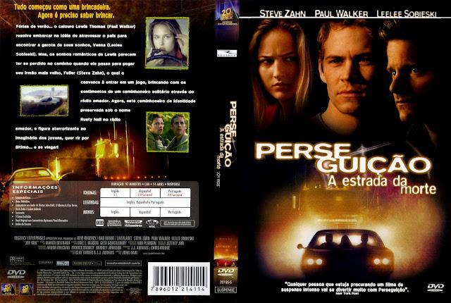 Capa DVD Perseguição A Estrada Da Morte