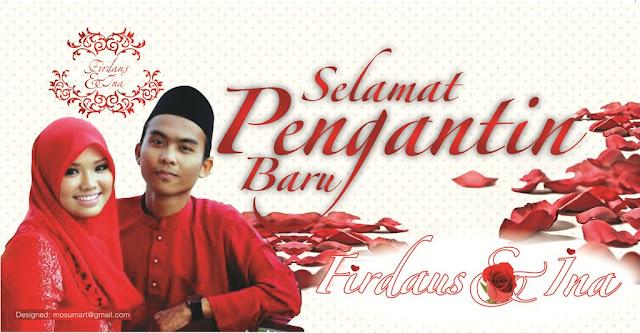 design Banner bunting majlis perkahwinan murah