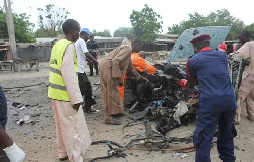 Three suicide bombers die from own explosives in Borno