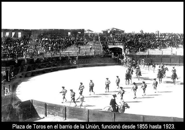 Plaza de toros en 1905 en Montevideo