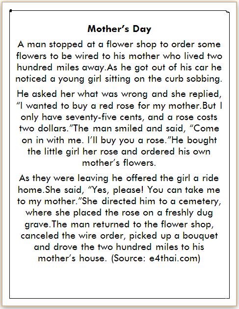 Cerita Bahasa Inggris tentang Ibu