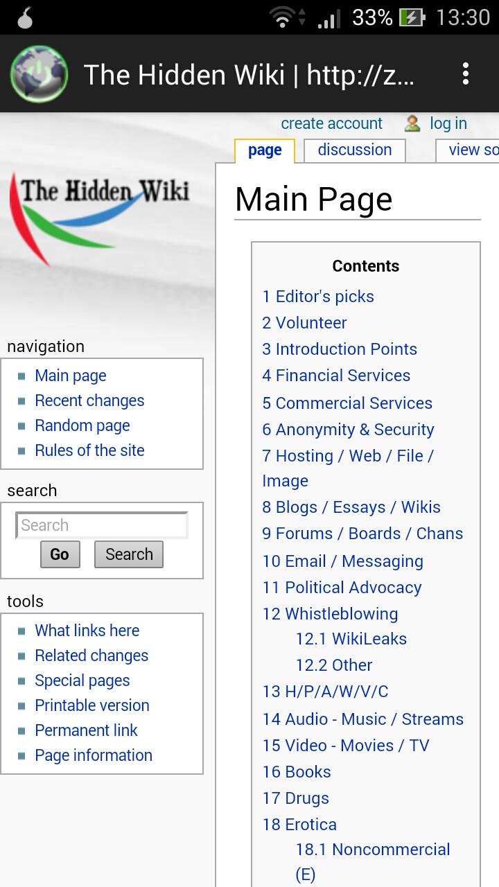 mobil hidden wiki